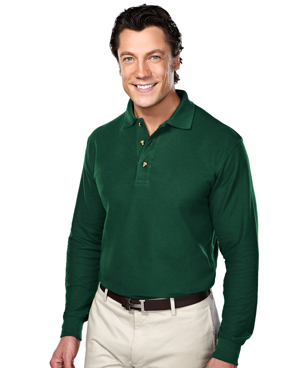 Forest Green Blended Cotton Polos Shown in UniFirst Uniform Rental Service Catalog