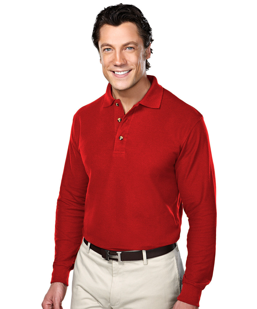 Red Blended Cotton Polos Shown in UniFirst Uniform Rental Service Catalog