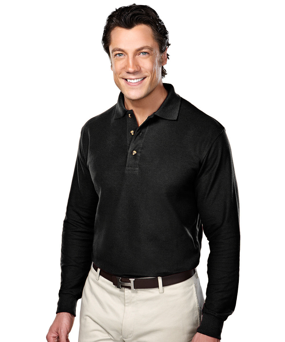 Black Blended Cotton Polos Shown in UniFirst Uniform Rental Service Catalog