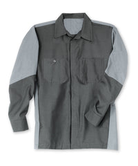 Charcoal/Graphite Grey Ripstop Crew Shirts Shown in UniFirst Uniform Rental Service Catalog