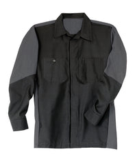 Black/Grey Ripstop Crew Shirts Shown in UniFirst Uniform Rental Service Catalog