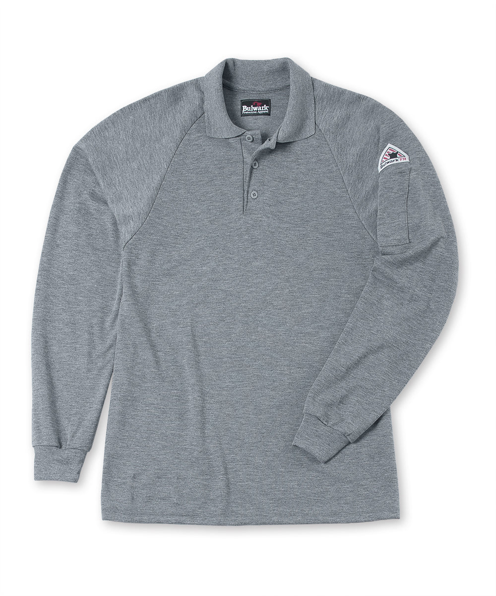 Bulwark® Flame Resistant Polo Shirt in Grey as shown in the UniFirst UniForm Rental Catalog