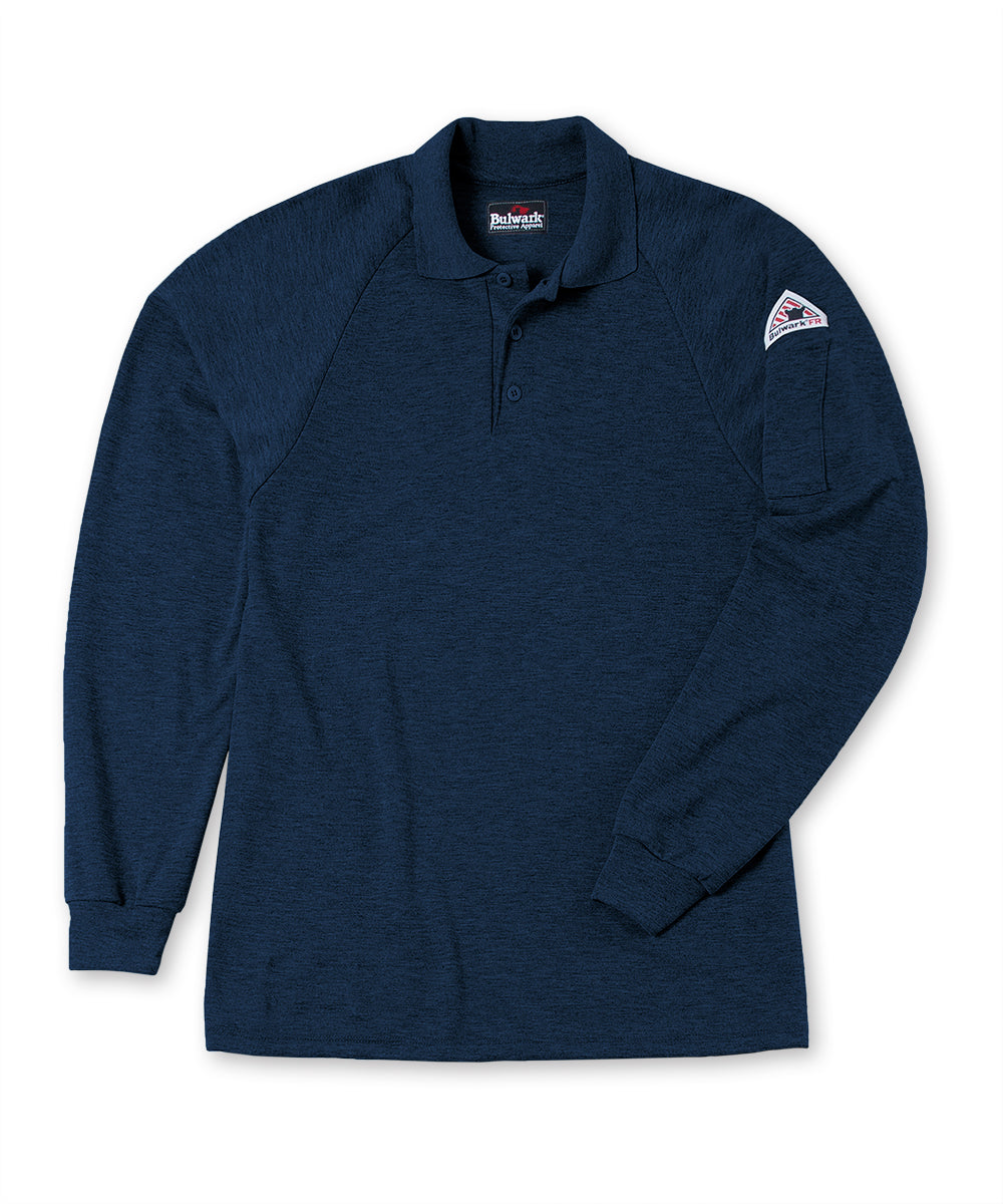 Bulwark® Flame Resistant Polo Shirt in Navy Blue as shown in the UniFirst UniForm Rental Catalog