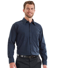 MIMIX™ Long Sleeve Ripstop Work Shirts in Navy Blue as shown in the UniFirst Uniform Rental catalog