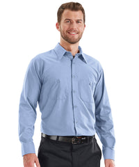 MIMIX™ Long Sleeve Ripstop Work Shirts in Light Blue as shown in the UniFirst Uniform Rental catalog