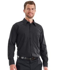 MIMIX™ Long Sleeve Ripstop Work Shirts in Black as shown in the UniFirst Uniform Rental catalog