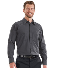 MIMIX™ Long Sleeve Ripstop Work Shirts in Charcoal Grey as shown in the UniFirst Uniform Rental catalog