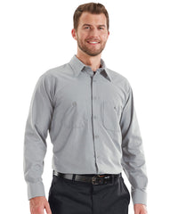 MIMIX™ Long Sleeve Ripstop Work Shirts in Light Grey as shown in the UniFirst Uniform Rental catalog