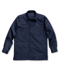 Navy Blue Dickies® Canvas Work Shirts Shown in UniFirst Uniform Rental Service Catalog