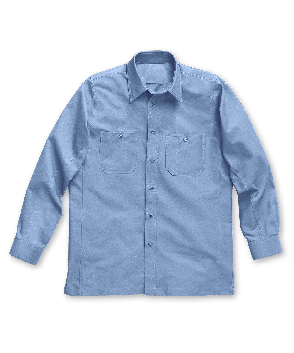 Light Blue Dickies® Canvas Work Shirts Shown in UniFirst Uniform Rental Service Catalog