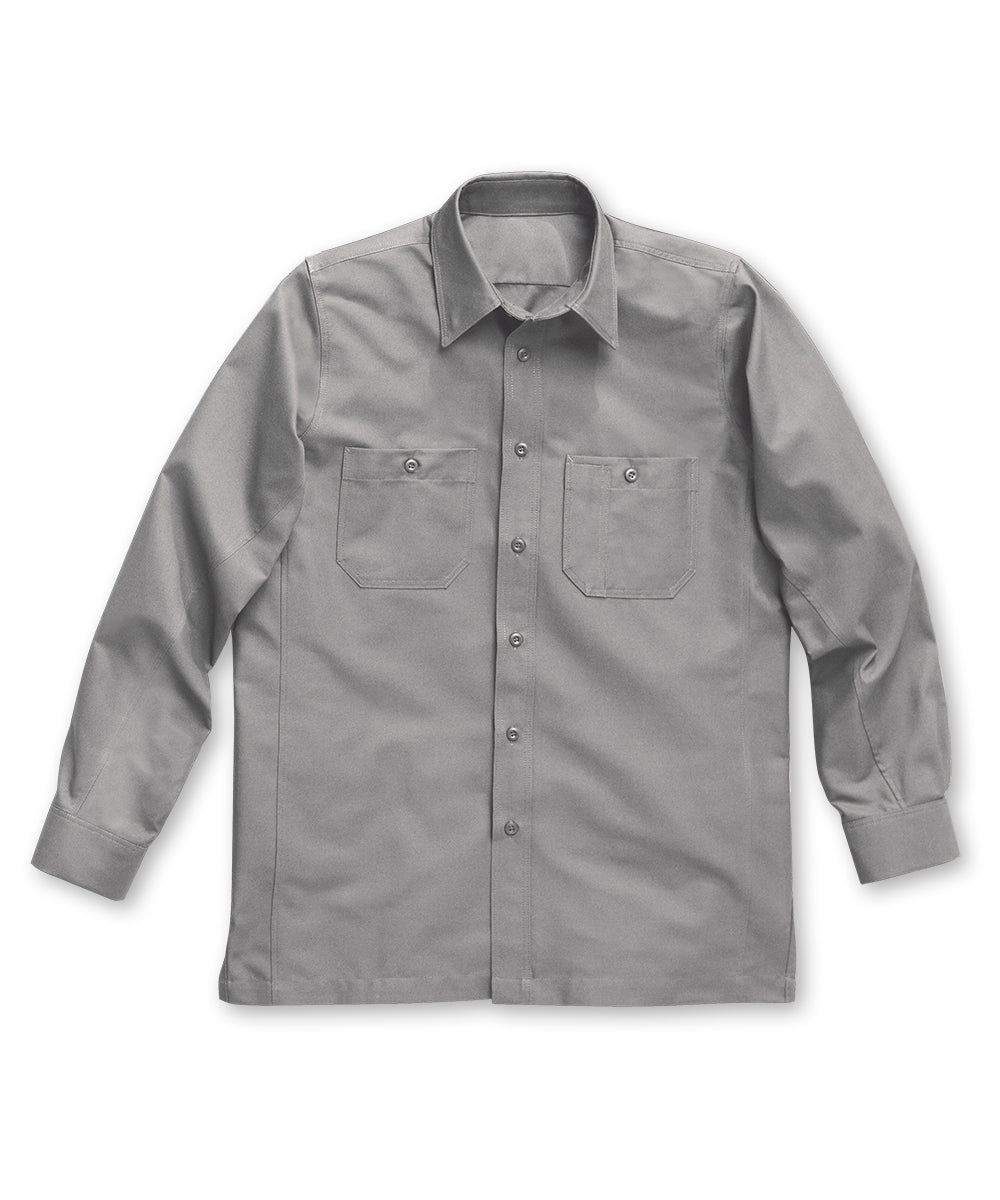 Silver Dickies® Canvas Work Shirts Shown in UniFirst Uniform Rental Service Catalog