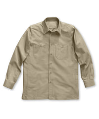 Khaki Dickies® Canvas Work Shirts Shown in UniFirst Uniform Rental Service Catalog