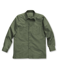 Olive Dickies® Canvas Work Shirts Shown in UniFirst Uniform Rental Service Catalog