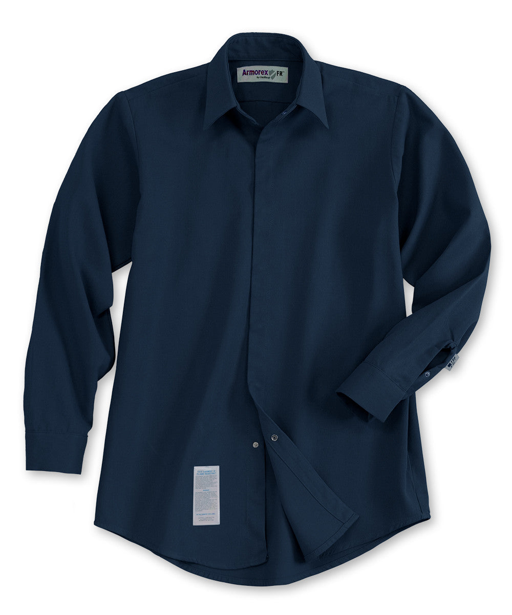 6eed2bcd06c8 Khaki Armorex FR® Arc Rated Flame Resistant Food Service Work Shirts Shown  in UniFirst Uniform