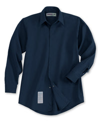 Navy Blue Armorex FR® Arc Rated Flame Resistant Food Service Work Shirts Shown in UniFirst Uniform Rental Service Catalog