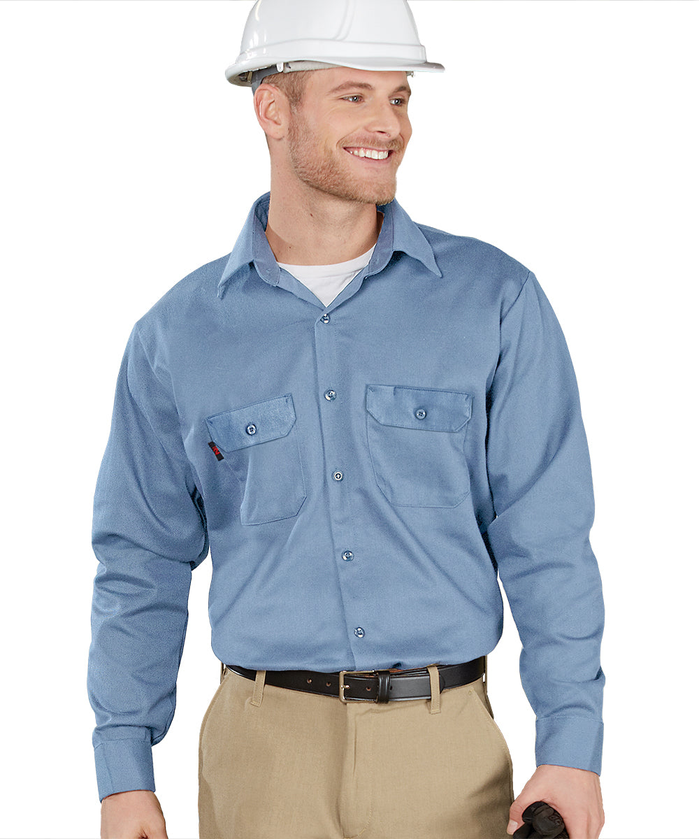 Armorex FR® Arc Rated Flame Resistant Work Shirts (Light Blue) Shown in UniFirst Uniform Rental Service Catalog