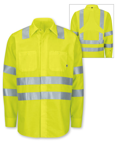 ANSI Class 3 MIMIX™ High Visibility Ripstop Work Shirts (Fluorescent Yellow) as shown in the UniFirst Rental Catalog.
