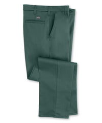 Spruce Green SofTwill® Flat Front Uniform Pants Shown in UniFirst Uniform Rental Service Catalog