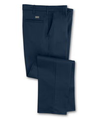 Navy Blue SofTwill® Flat Front Uniform Pants Shown in UniFirst Uniform Rental Service Catalog