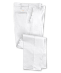 White SofTwill® Flat Front Uniform Pants Shown in UniFirst Uniform Rental Service Catalog