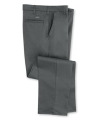 Charcoal SofTwill® Flat Front Uniform Pants Shown in UniFirst Uniform Rental Service Catalog