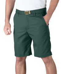 Spruce Green Softwill® Flat Front Uniform Shorts Shown in UniFirst Uniform Rental Service Catalog