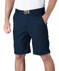 Navy Blue Softwill® Flat Front Uniform Shorts Shown in UniFirst Uniform Rental Service Catalog