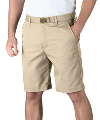 Tan Softwill® Flat Front Uniform Shorts Shown in UniFirst Uniform Rental Service Catalog