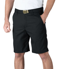 Black Softwill® Flat Front Uniform Shorts Shown in UniFirst Uniform Rental Service Catalog