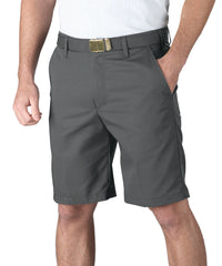 Charcoal Softwill® Flat Front Uniform Shorts Shown in UniFirst Uniform Rental Service Catalog