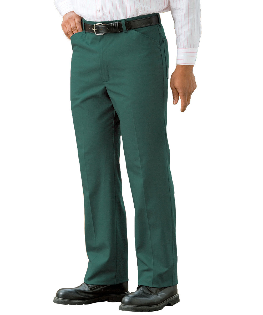 Spruce Green Jean-Style Uniform Pants Shown in UniFirst Uniform Rental Service Catalog