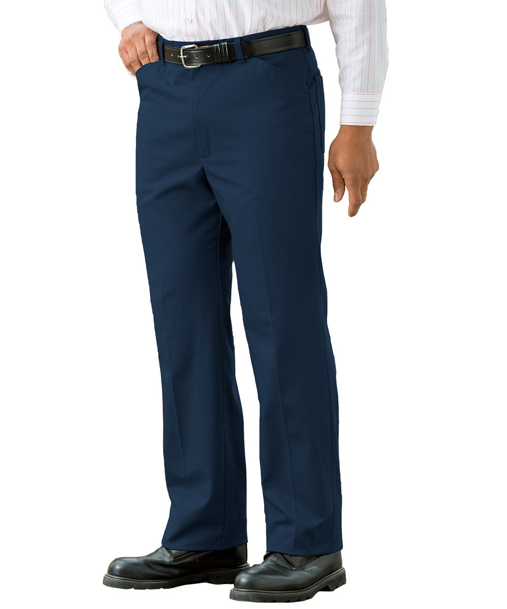 Navy Blue Jean-Style Uniform Pants Shown in UniFirst Uniform Rental Service Catalog