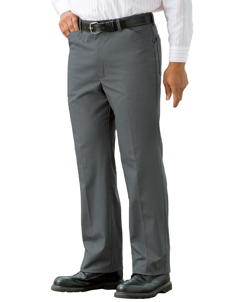 Charcoal Jean-Style Uniform Pants Shown in UniFirst Uniform Rental Service Catalog