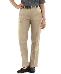 Blue Women's Cargo Pants (Tan) Shown in UniFirst Uniform Rental Service Catalog