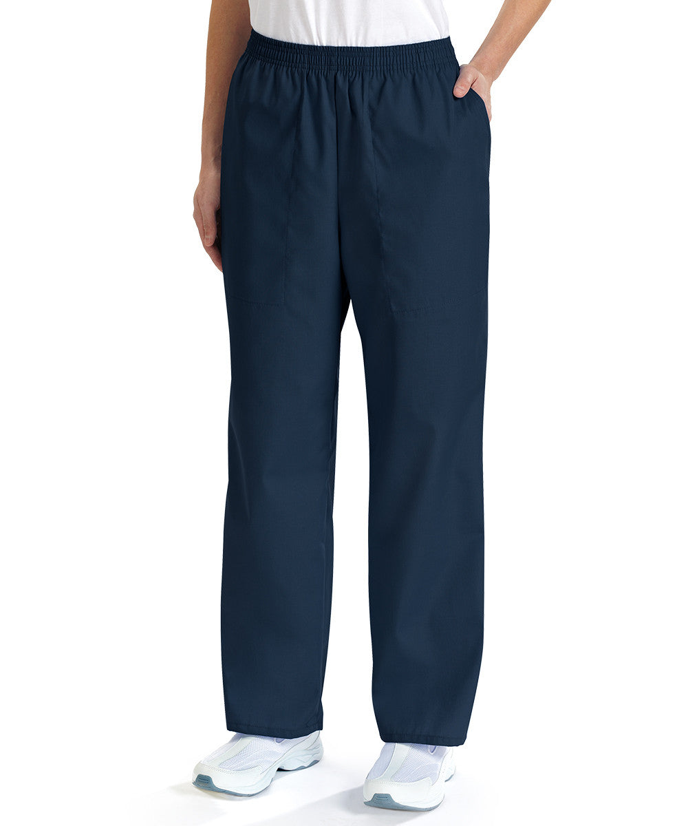 Navy Blue Women's Scrub Pants Shown in UniFirst Uniform Rental Service Catalog