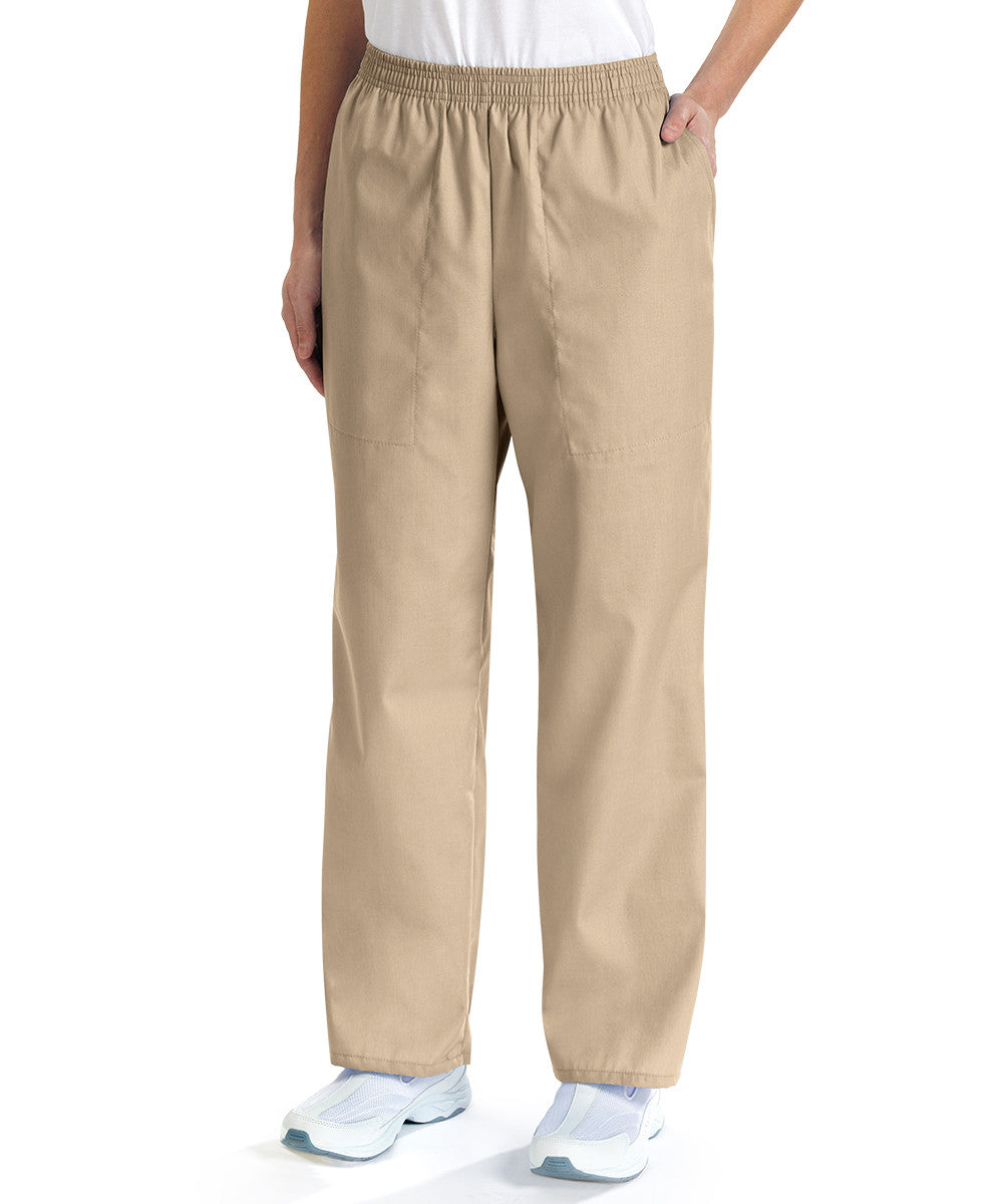 Tan Women's Scrub Pants Shown in UniFirst Uniform Rental Service Catalog