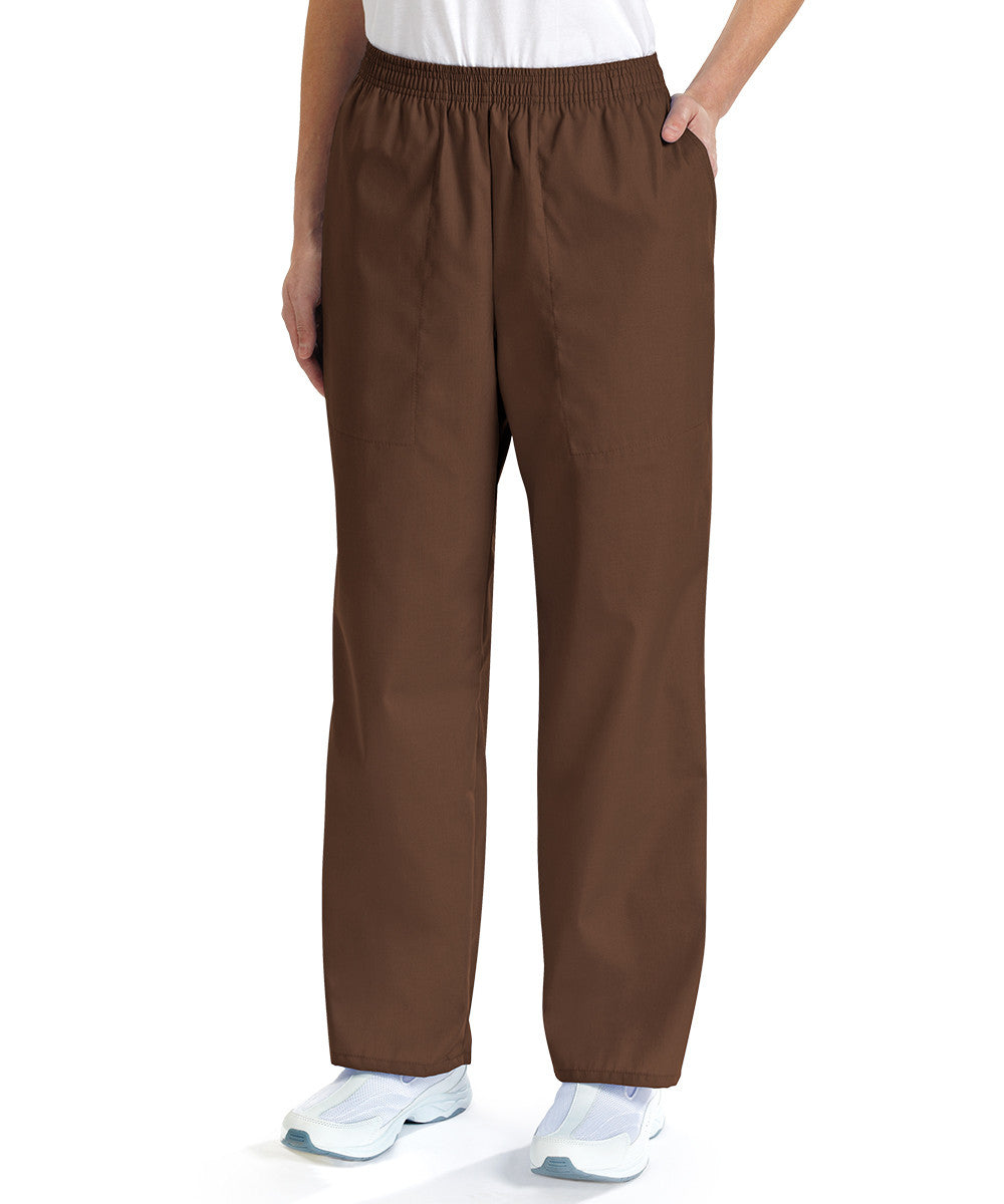 Brown Women's Scrub Pants Shown in UniFirst Uniform Rental Service Catalog