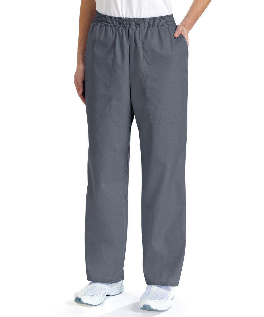 Pewter Women's Scrub Pants Shown in UniFirst Uniform Rental Service Catalog