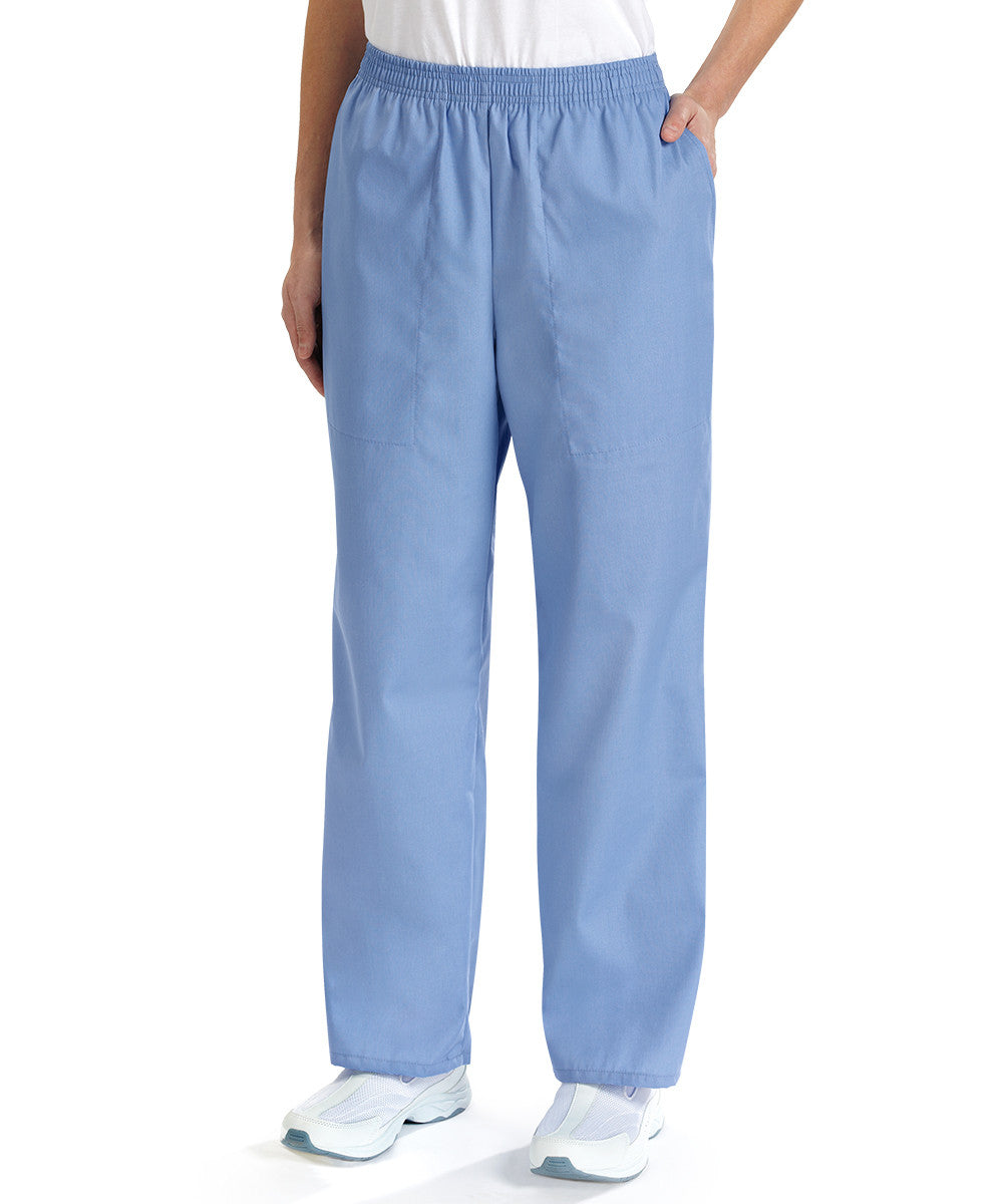 Ciel Blue Women's Scrub Pants Shown in UniFirst Uniform Rental Service Catalog