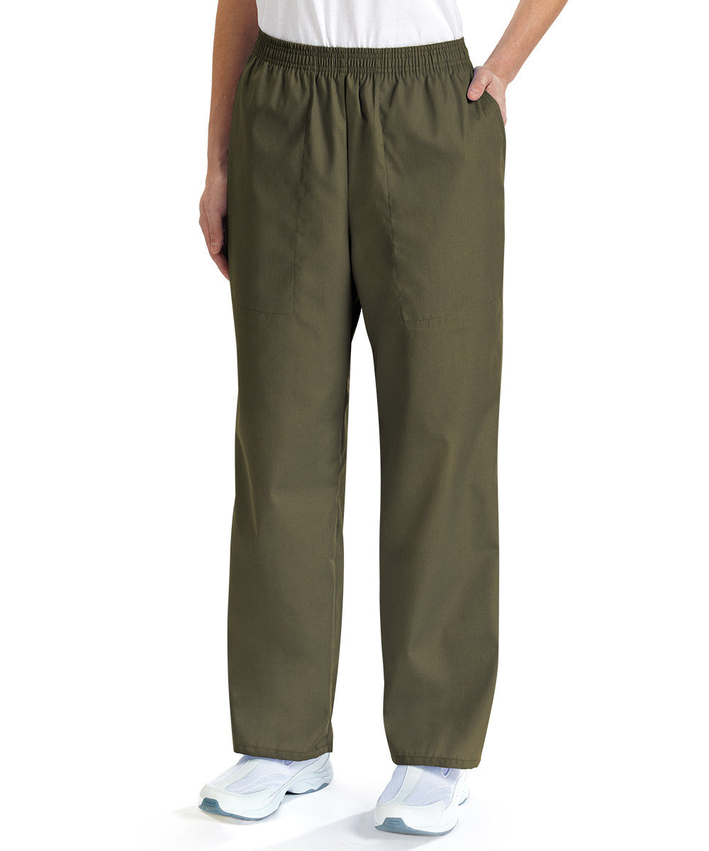 Olive Women's Scrub Pants Shown in UniFirst Uniform Rental Service Catalog