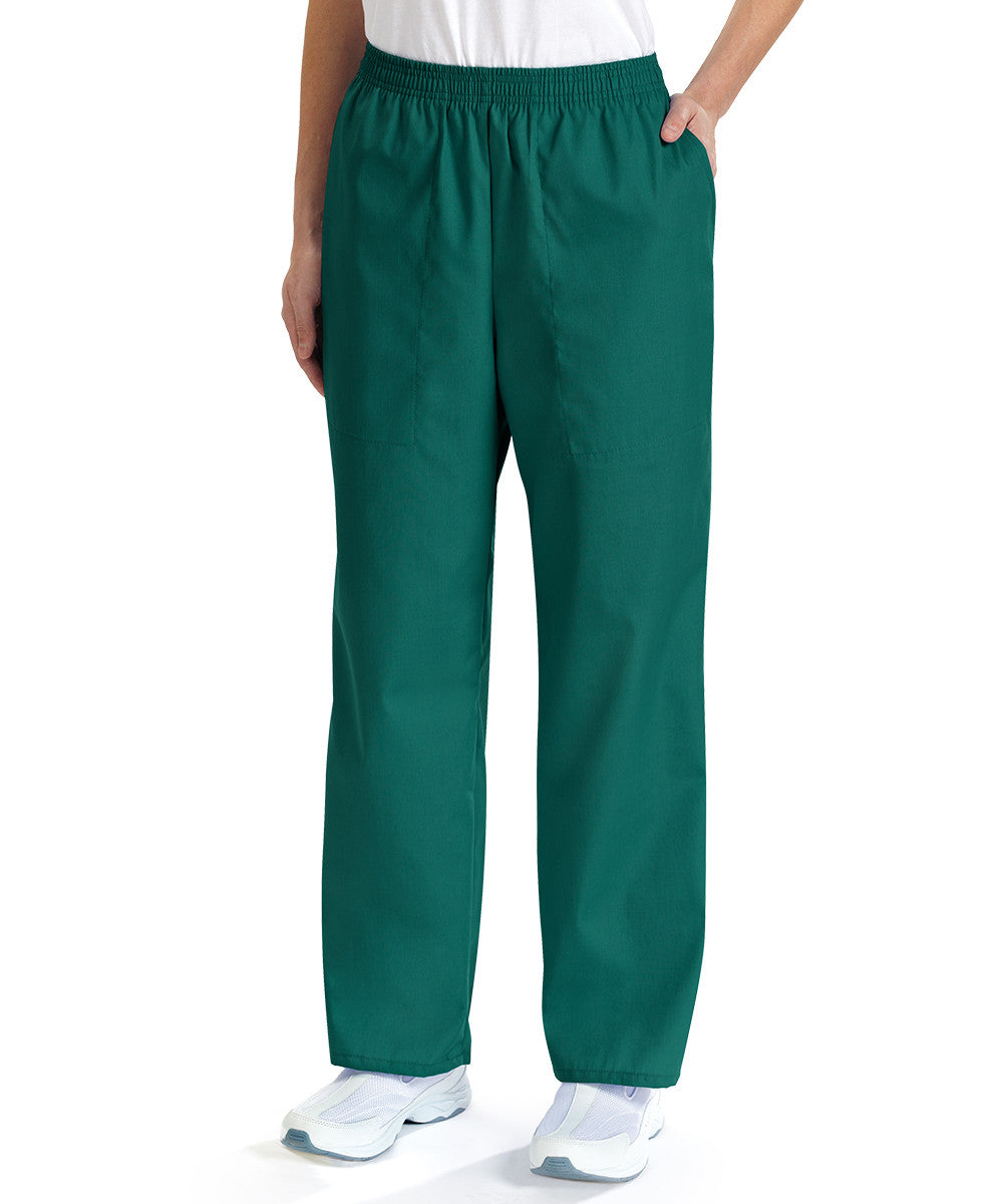 Fir Green Women's Scrub Pants Shown in UniFirst Uniform Rental Service Catalog
