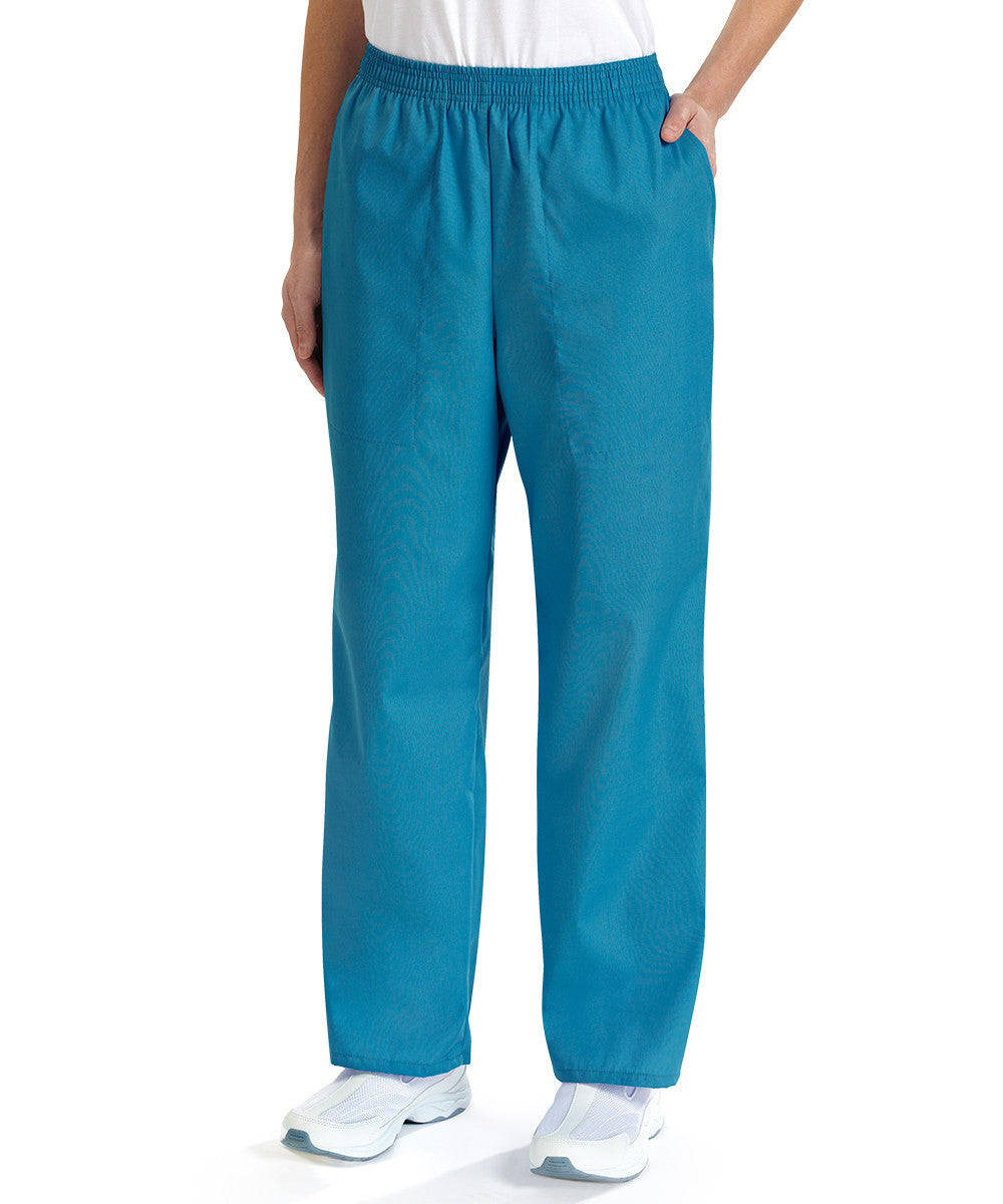 Pacific Blue Women's Scrub Pants Shown in UniFirst Uniform Rental Service Catalog