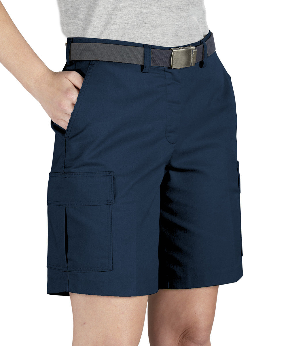 Navy Blue Women's Cargo Shorts Shown in UniFirst Uniform Rental Service Catalog