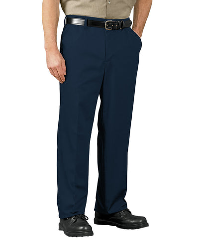 Navy Blue SofTwill® Flat Front Cell Phone Pants Shown in UniFirst Uniform Rental Service Catalog