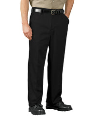 Black SofTwill® Flat Front Cell Phone Pants Shown in UniFirst Uniform Rental Service Catalog