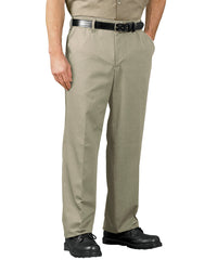 Khaki SofTwill® Flat Front Cell Phone Pants Shown in UniFirst Uniform Rental Service Catalog