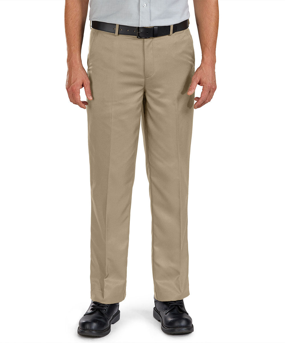Flat Front Microfiber Dress Pants (Tan) as shown in the Hospitality Collection in the UniFirst Uniforms Rental Catalog.