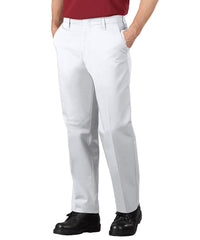 White SofTwill® Service Pants Shown in UniFirst Uniform Rental Service Catalog