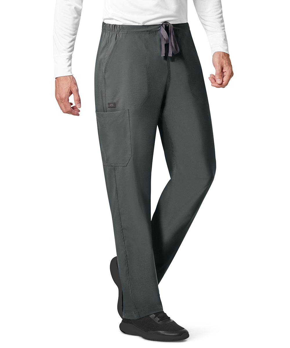 WonderWink INDY™ Unisex Utility Cargo Scrub Pants (Pewter) as shown in the UniFirst Uniform Rental Catalog.