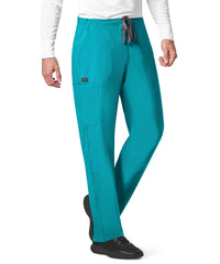 WonderWink INDY™ Unisex Utility Cargo Scrub Pants (Teal) as shown in the UniFirst Uniform Rental Catalog.